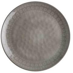 MELAMINE DINNER PLATE, ROSETTE COCOUNUT