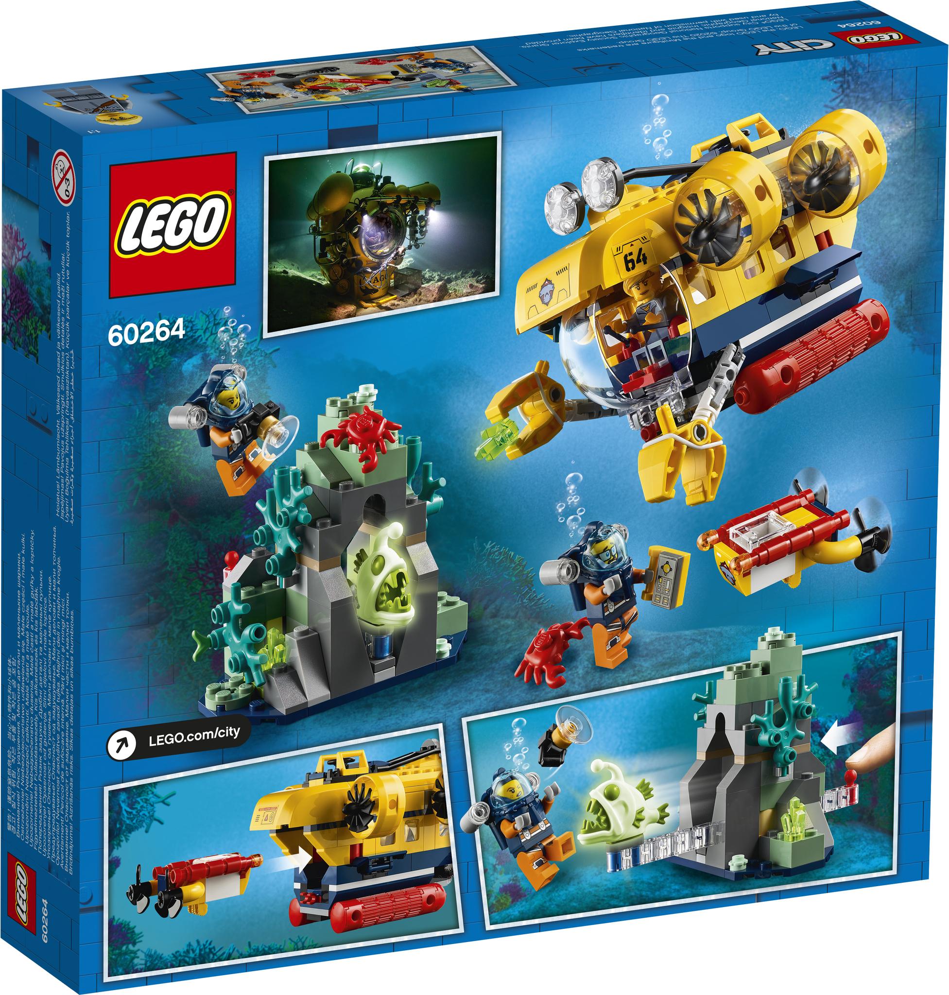 LEGO City 60264 Конструктор ЛЕГО Город Океан: исследовательская подводная лодка