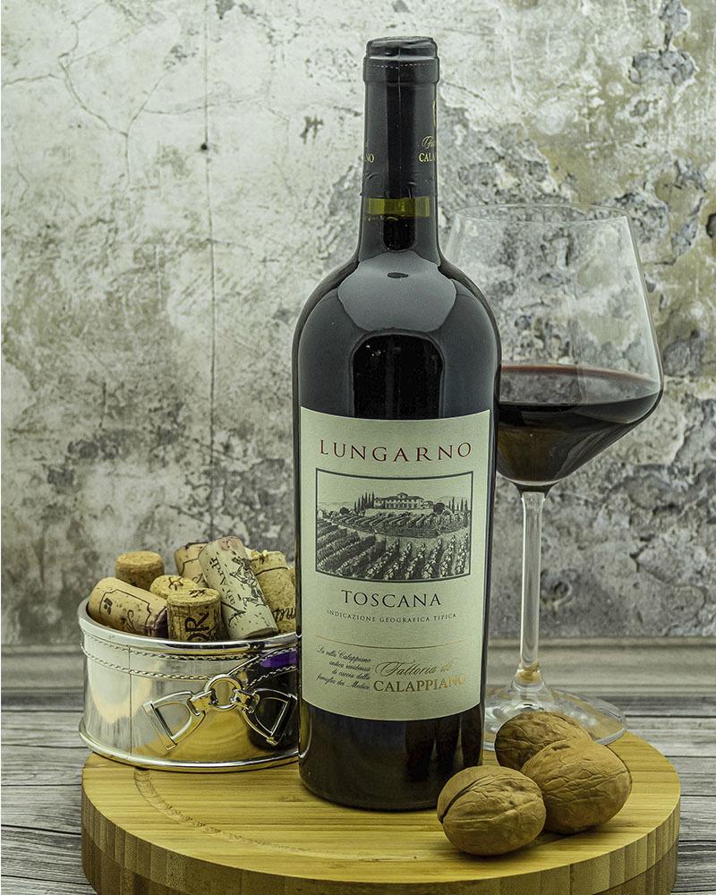 Вино Fattoria di Calappiano Лунгарно Красное сухое 2017 г.у. 14,5% 0,75 л.