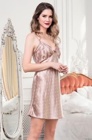 Сорочка женская Mia-Mella CLEVER КЛЕВЕР 8941 бежевый