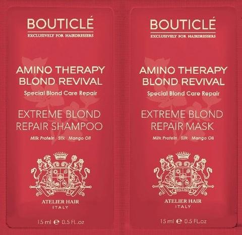 Пробник шампунь Extreme Blond Repair Shampoo/восстанавливающая маска Extreme Blond Repair Mask 15+15мл