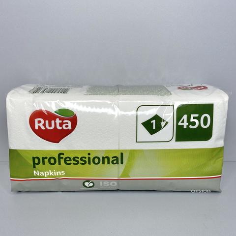 Салфетки 24х24 см 1сл. Ruta Professional (450 шт.) белые (a0540)