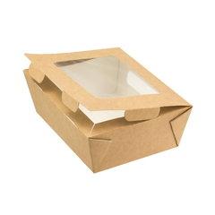 Коробка крафт с окошком 130х95х50 мм