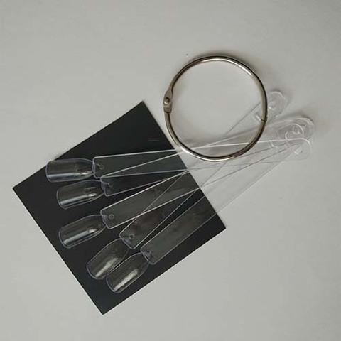 Типсы демонстрационные на кольце (прозрачные), 50 шт