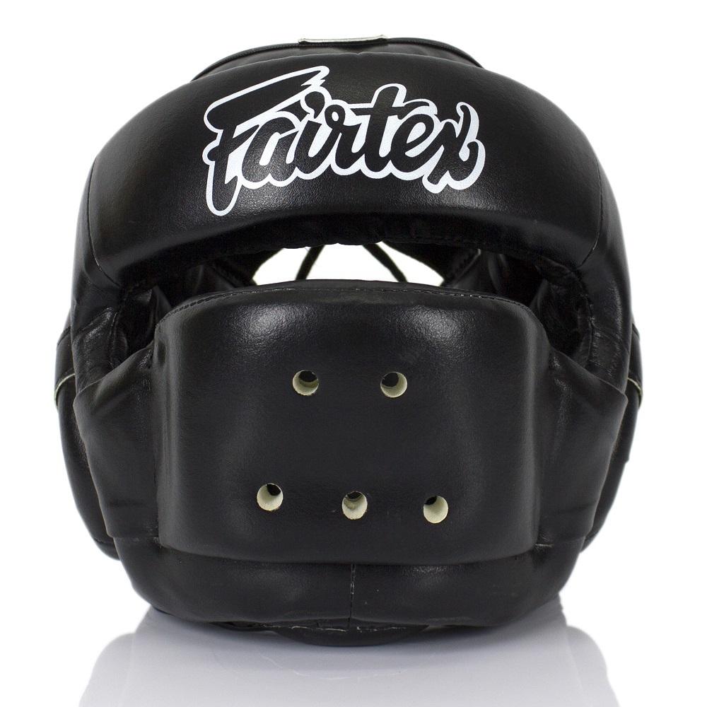 Шлемы Шлем Fairtex Headguard Full Face Protector HG14 Black 1.jpg