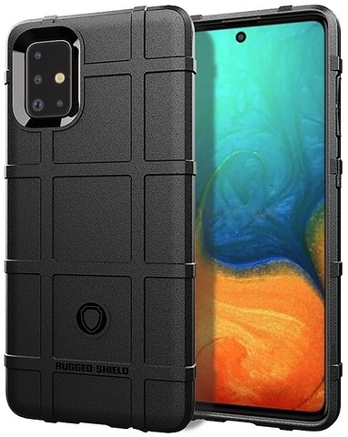 Чехол для Samsung Galaxy A71 цвет Black (черный), серия Armor от Caseport