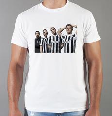 Футболка с принтом FC Juventus (ФК Ювентус) белая 009