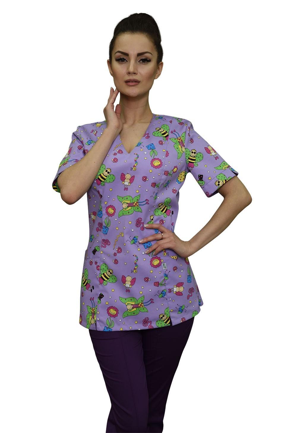Блуза медицинская Бл-347/1 тередо принт