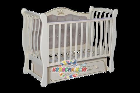 Детская кроватка «LUIZA 333» С МЯГКОЙ СТЕНКОЙ