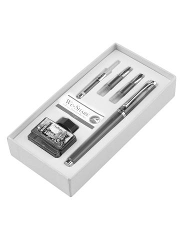 Набор Pierre Cardin We-Share - Gray, перьевая ручка M + 2 сменных пера + чернила + конвертер
