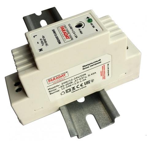24W/12-24V/DIN блок питания Faraday
