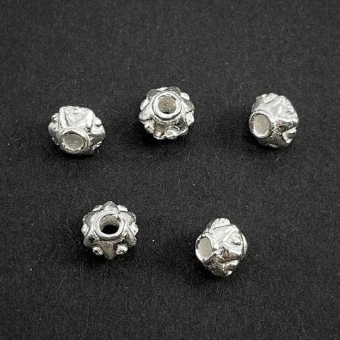 Рондель разделитель Звездочки 5,7х4,5 мм светлое серебро 925