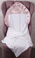Нарядная крыжма Велена для новорожденных (розовая)
