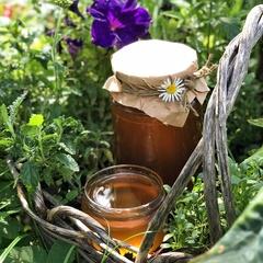 Мед Весенний садовый (акация+майские сады+черноклен) / 1,2 кг