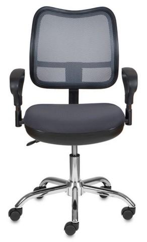 спинка сетка темно-серый сиденье серый TW-12 крестовина хром
