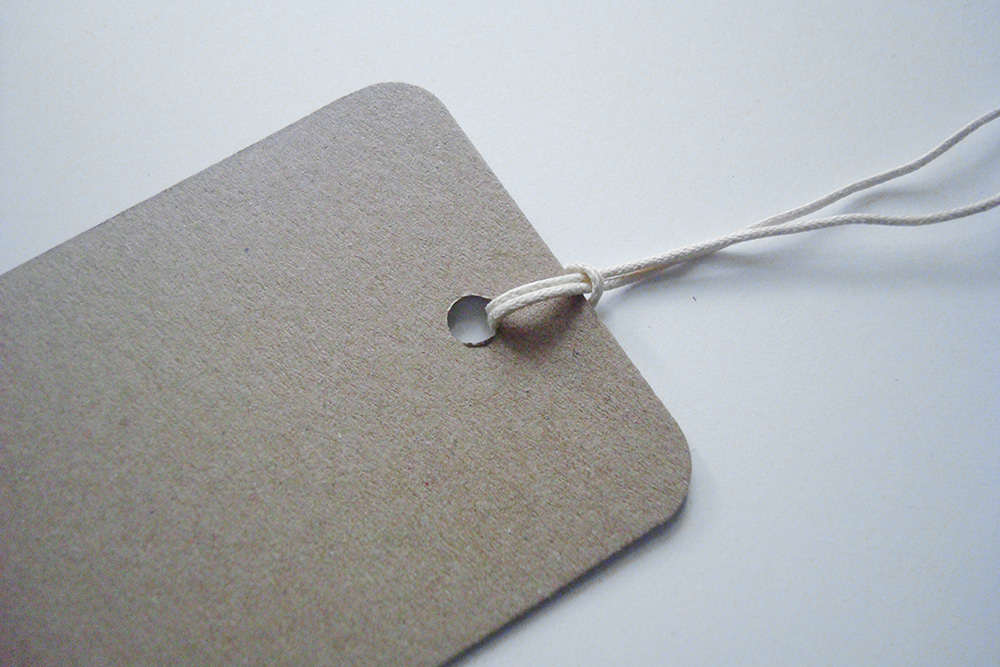 Бирки (теги) Крафт 6,5х11,5 см со скругленными уголками