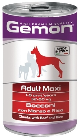 Gemon Dog Maxi Adult Chunkies with Beef & Rice