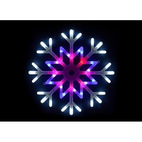 Светодиодная подвесная фигура Снежинка