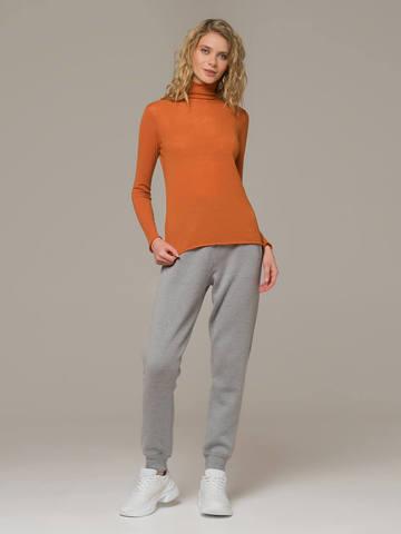 Женский джемпер оранжевого цвета из 100% шерсти - фото 5