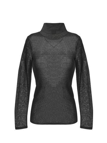 Женская водолазка черного цвета из вискозы - фото 1