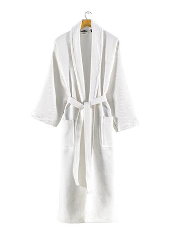 Вафельно-махровый халат для дома, бани и сауны