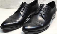 Черные мужские туфли классика Ikoc 2249-1 Black Leather.