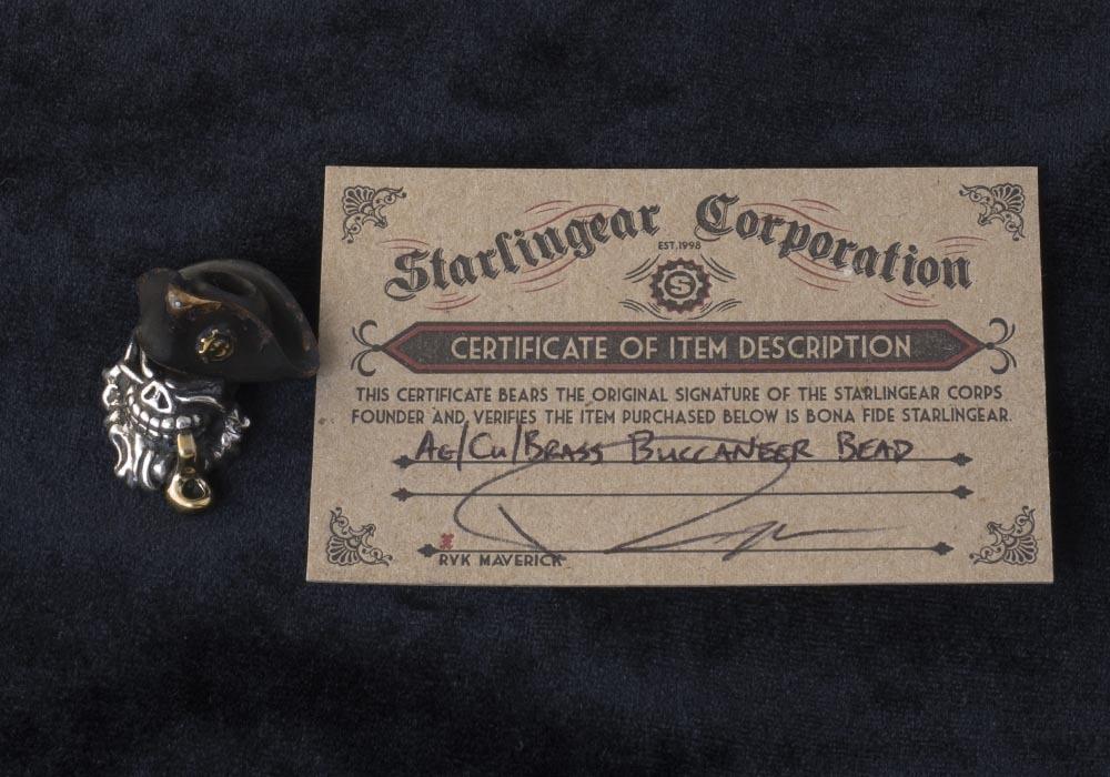 Starlingear Brass Buccaneer bead - фотография