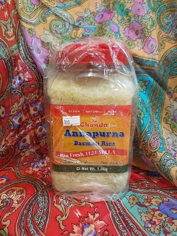Рис Басмати Анапурна пропаренный, высший сорт 1,5  кг Chanda (Индия)