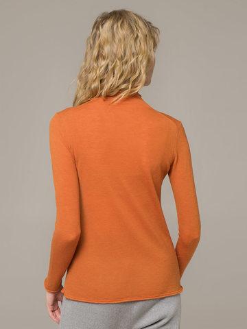 Женский джемпер оранжевого цвета из 100% шерсти - фото 4