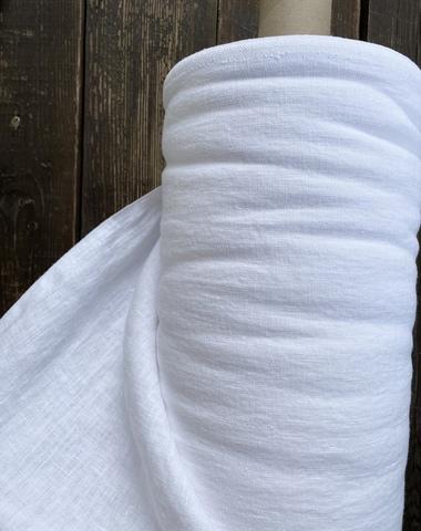 Лен крэш 100%, 260г/м, Пломбир Extra White плотный