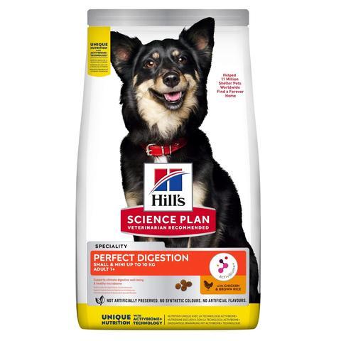 Hill's Science Plan 1,5кг сухой корм для взрослых собак мелких пород, с курицей и коричневым рисом