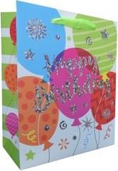 Пакет подарочный, С Днем Рождения (шарики), 23*18*10 см, 1 шт.