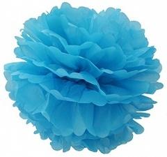 Помпон голубой, 20 см