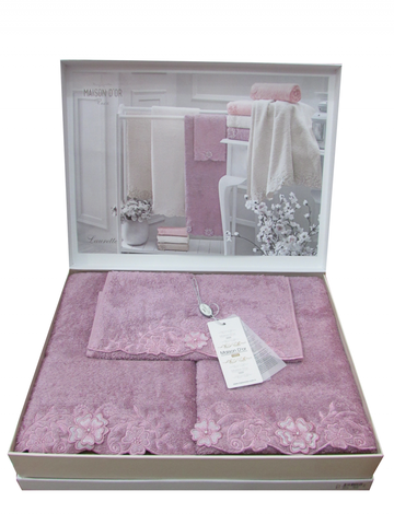 Набор полотенец LAURETTE - ЛАУРЕТТЕ 3пр 30х50 50х100 и 90х150 Maison Dor (Турция)
