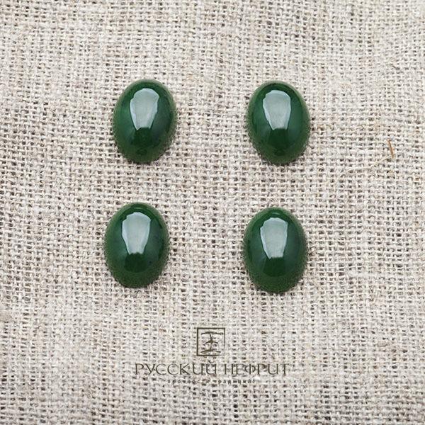 Вставки Кабошон овальный 13,5 х 10мм. Зелёный нефрит (класс моде). kabashon01.jpg