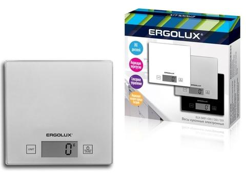 Весы кухонные Ergolux ELX-SK01-С03 серый