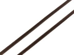Резинка отделочная шоколад 4 мм