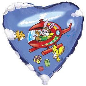 Фольгированный шар Вертолет 18