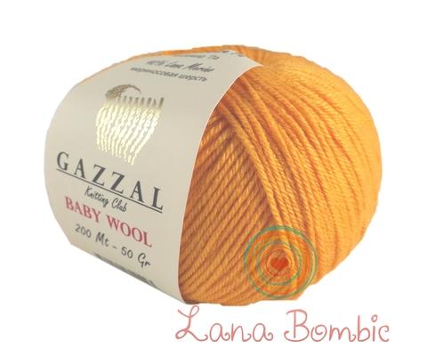 Пряжа Gazzal Baby Wool 837 оранжевый