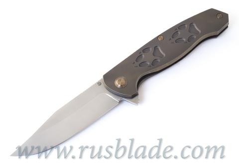 Cheburkov Wolf 2019 M390 Titanium Folding Knife