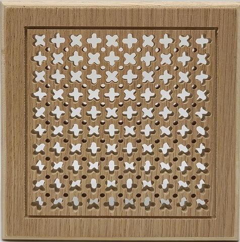 Решетка декоративная деревянная на магнитах Пересвет К-01 150х150мм