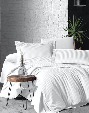 Комплект постельного белья DO&CO Сатин  жаккард DELUX 200*220 (50*70/2) (70*70/2) LINEAR цвет кремовый
