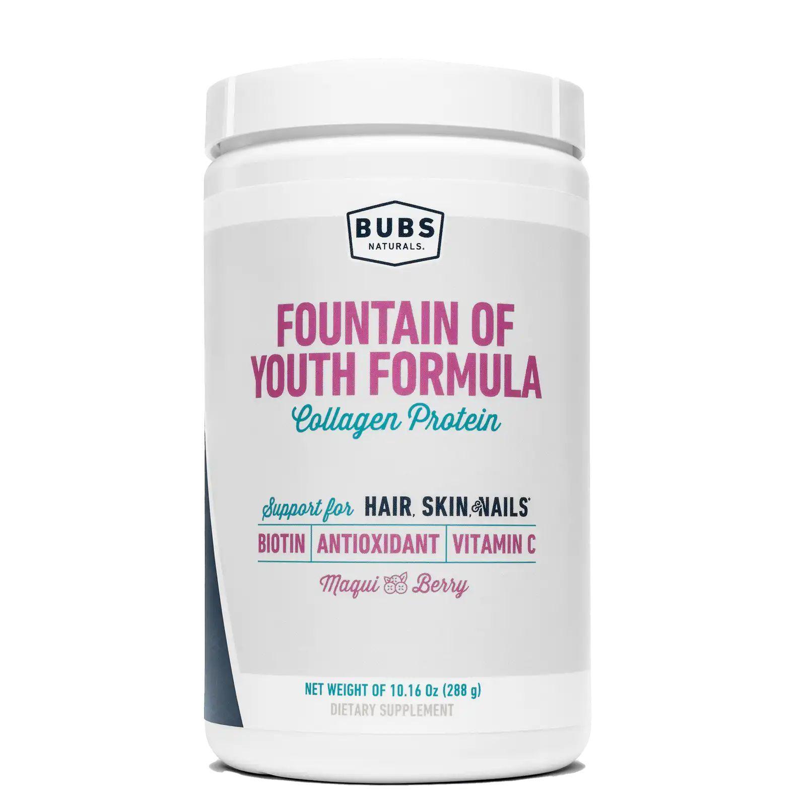 Комплекс коллагена с антиоксидантами, Fountain of Youth Formula, Bubs Naturals (288 g)