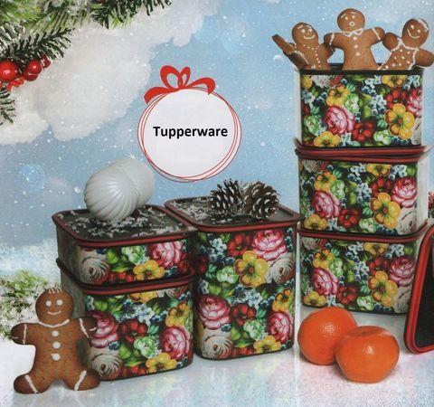 Цветочный узор tupperware