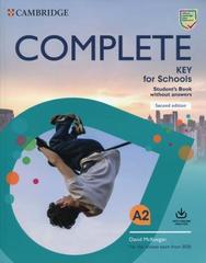 Complete Key for Schools (Second Edition) Student's Book without answers