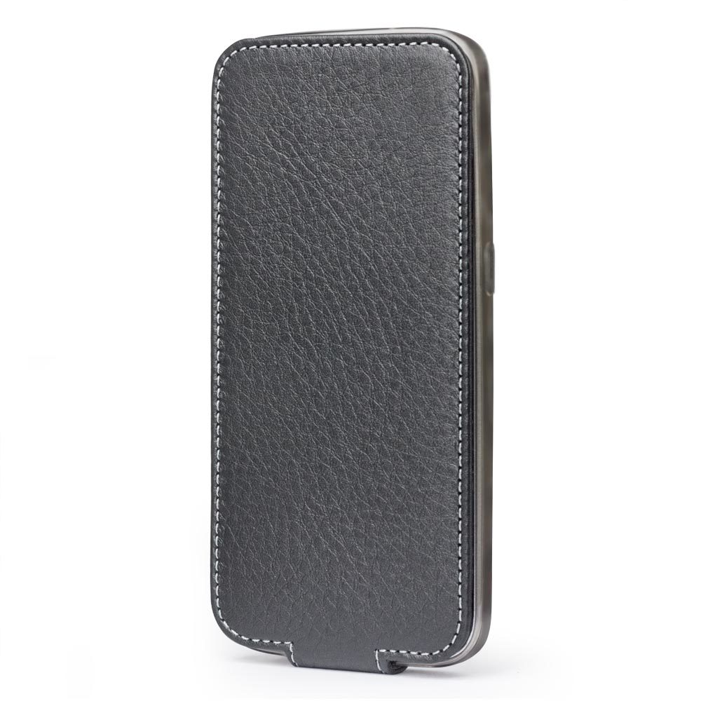 Чехол для Samsung Galaxy S7 из натуральной кожи теленка, черного цвета