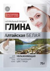 Глина Алтайская белая, увлажняющая 75 г. ТМ Фитокосметик