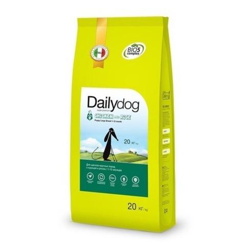 Сухой корм Dailydog Puppy Large Breed для щенков крупных пород с курицей и рисом, 20 кг.