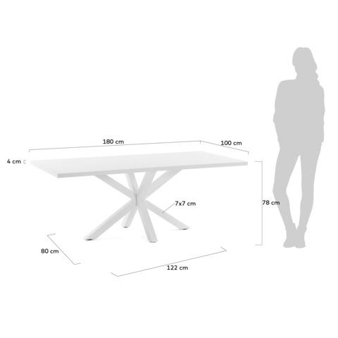 Стол белый лакированный Arya