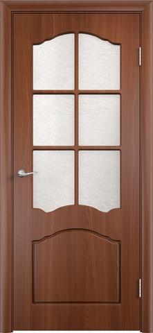 Дверь Верда Лидия, цвет итальянский орех, остекленная